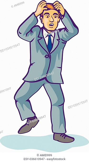 jolly man dressed in a blue suit