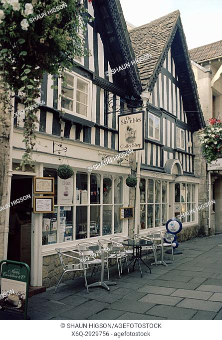 The Shambles in Bradford on Avon in Wiltshire in England in Great Britain in the United Kingdom UK Europe