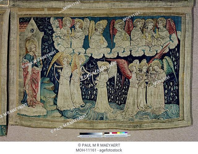 La Tenture de l'Apocalypse d'Angers, Les sept dernières plaies et les harpes de Dieu, 52 x 2,49m , die sieben Schalen des Zorns und die Harfen Gottes