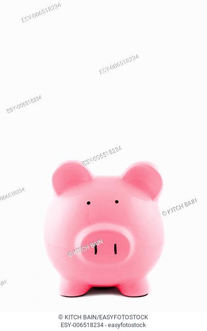 A close up shot of a piggy bank