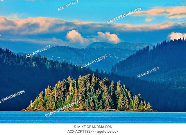 Queen Charlotte Mountains (Insular Mountains). Pacific Ocean. Graham Island. SKidegate. , Haida Gwaii (formerly the Queen Charlotte Islands), British Columbia