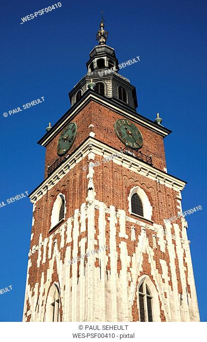 Poland, Cracow, Town Hall Tower