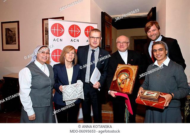 Sister Annie Demerjian, Jesus and Mary Congregation; Anna Kotanska; Janusz Kotan?ski, Polish Embassy to the Holy See; Father Andrzej Halemba
