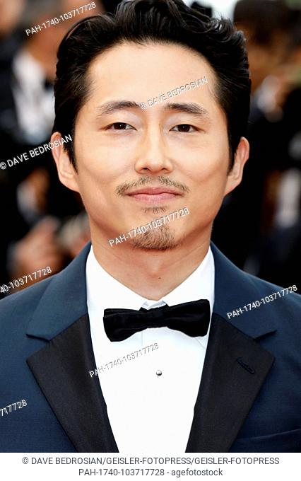 Steven Yeun attending the 'Burning / Beoning' premiere during the 71st Cannes Film Festival at the Palais des Festivals on May 16, 2018 in Cannes