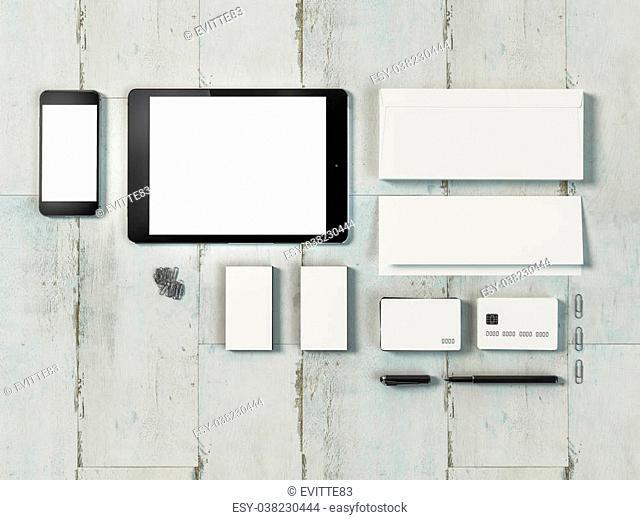 Template business for branding. High resolution. 3D