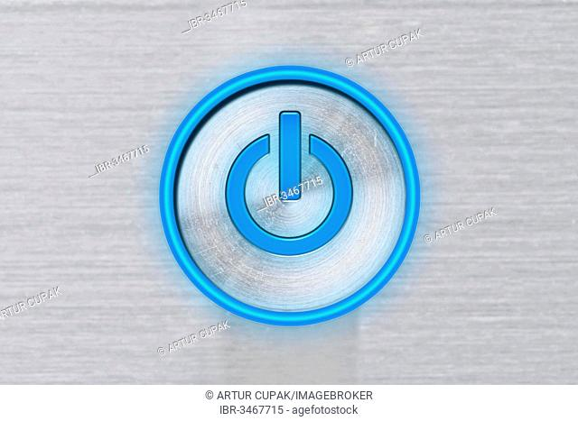 Blue power button, Start