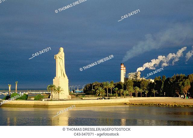 Monument to Christopher Columbus in Punta del Sebo. Huelva. Andalusia, Spain