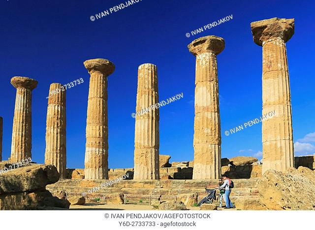 Temple of Heracles, Valley of the Temples, Sicily, Italy