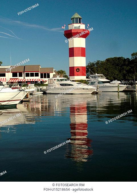 Hilton Head Island, SC, South Carolina, Harbour Town, Sea Pines, Harbour Town Yacht Basin, lighthouse, marina