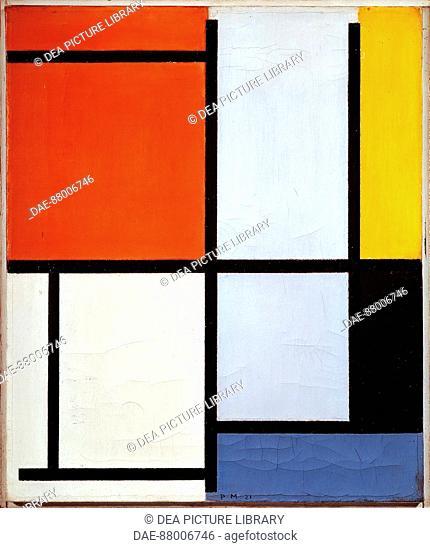 Piet Mondrian (1872-1944), Composition, 1927.  Basel, Kunstmuseum (Art Museum)