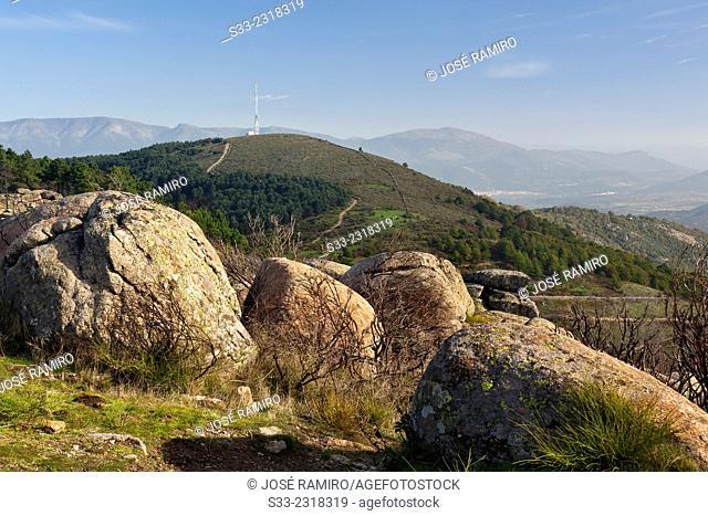 Pelados hill in El Real de San Vicente. Toledo. Castilla la Mancha. Spain. Europe