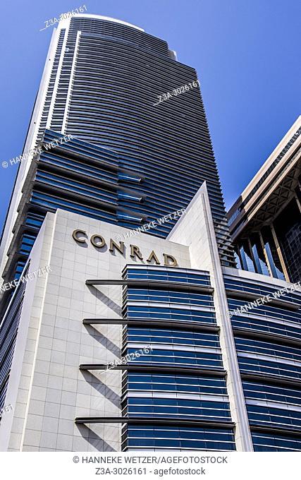 Conrad Tower at the WTC in Dubai, UAE