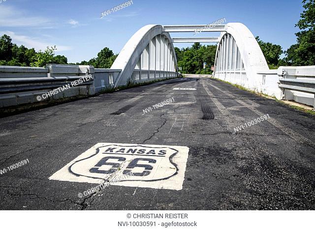 Rainbow Bridge, Historic Route 66, Riverton, Kansas, USA