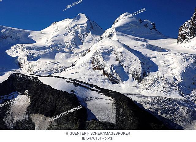 Peaks Castor, Pollux, Zermatt, Valais Switzerland