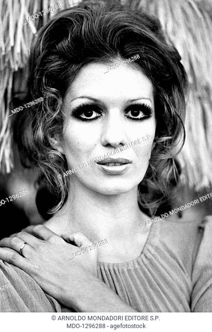 Portrait of Iva Zanicchi. Portrait of Italian singer and TV presenter Iva Zanicchi. Rapallo, 1970s