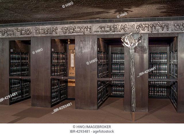 Archive, Yad Vashem memorial, Jerusalem, Israel