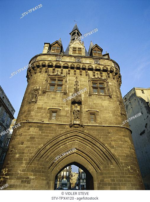 Bordeaux, Cailhall, France, Europe, Gate, Holiday, Landmark, Tourism, Travel, Vacation