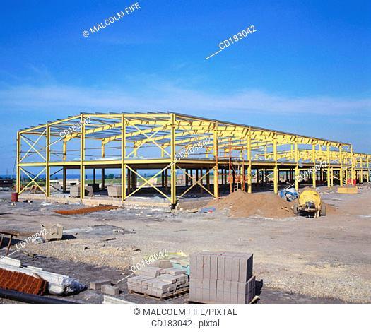 Retail complex under construction