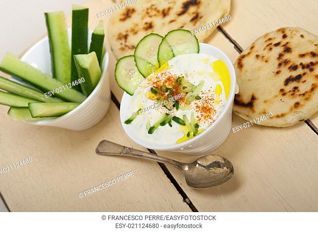 Arab middle east salatit laban wa khâ. . yar Khyar Bi Laban goat yogurt and cucumber salad