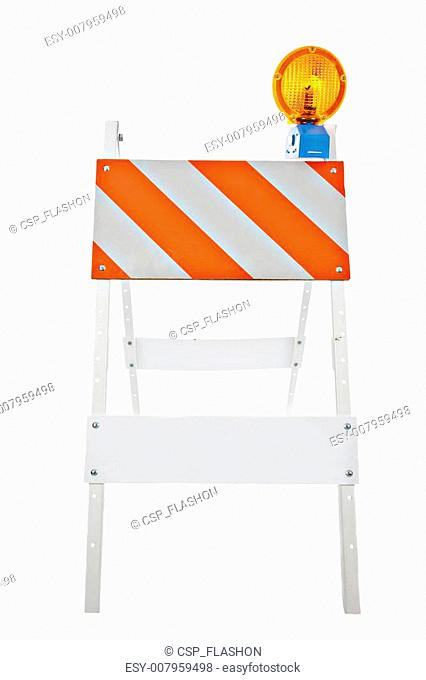 Barricade and Warning Light Closeup
