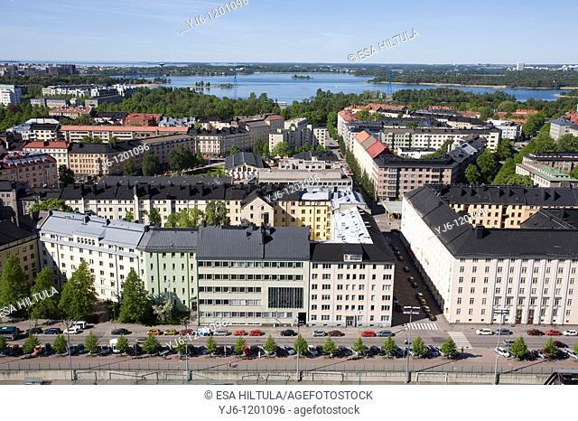 Aerial view of Helsinki Finland