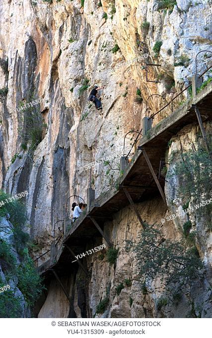 El Caminito del Rey, or King's little pathway  El Chorro  Andalucia, Spain