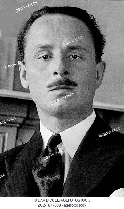 Sir Oswald Mosley  Sir Oswald Moseley leader of the British Union of Fascists  Image from the archives of Press Portrait Service formerly The Press Portrait...