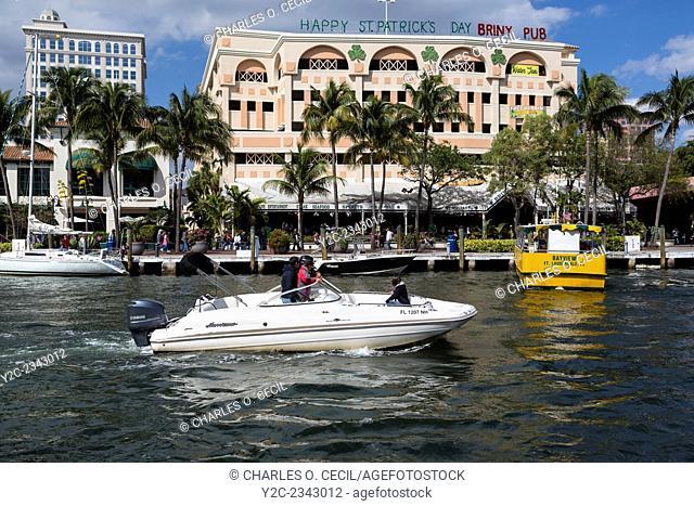 Ft. Lauderdale, Florida. Briny Riverfront Irish Pub and Restaurant, New River