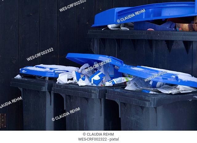 Germany, Separation of wastepaper in bin