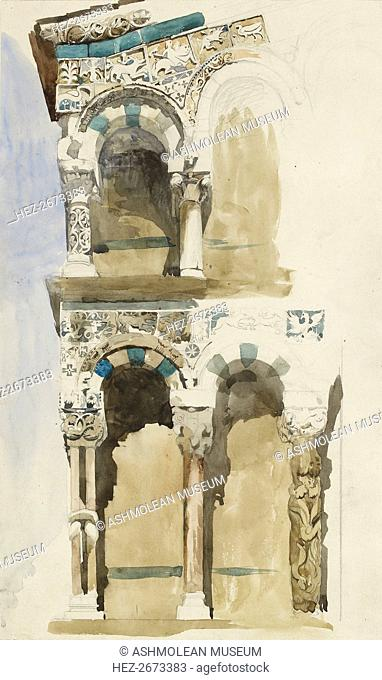Part of the Facade of the destroyed Church of San Michele in Foro, Lucca, 1846. Artist: John Ruskin