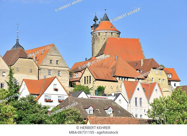 Germany, Baden-Wurttemberg, Old Town of Besigheim, Schochenturm (tower)