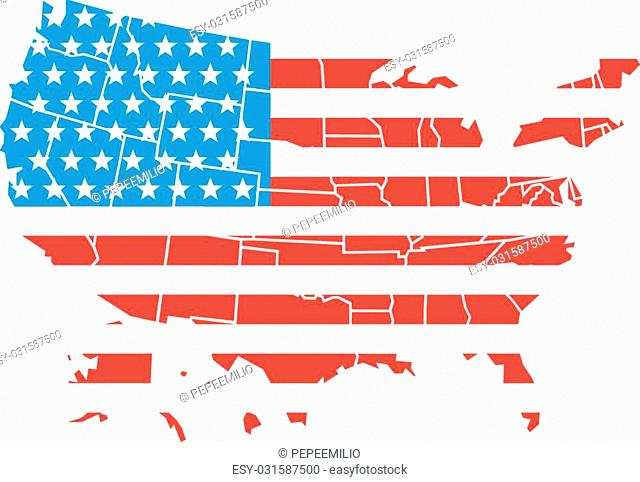 USA map isolated on the white background