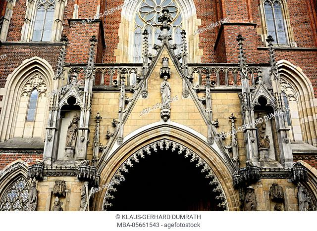 Poland, portal of the cathedral of Wroclaw