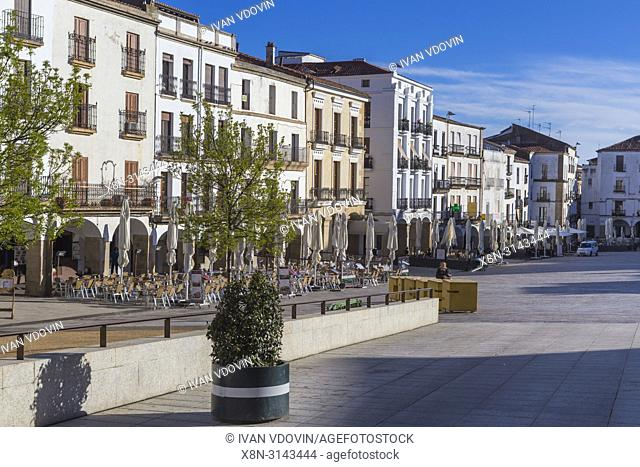 Plaza mayor, Caceres, Extremadura, Spain
