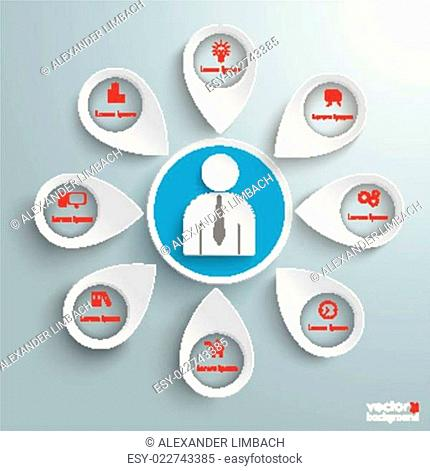 8 Location Markers Human Infographic PiAd