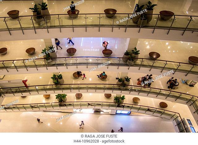 Thailand, Asia, Bangkok, architecture, central, downtown, escalators, hall, mall, new, shopping mall, shopping center, shopping