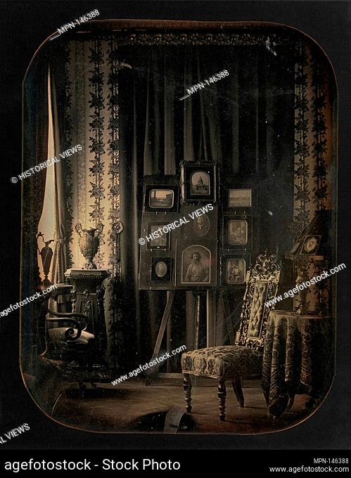 [The Salon of Baron Gros]. Artist: Baron Jean-Baptiste-Louis Gros (French, 1793-1870); Date: 1850-57; Medium: Daguerreotype; Dimensions: Image: 22 x 17