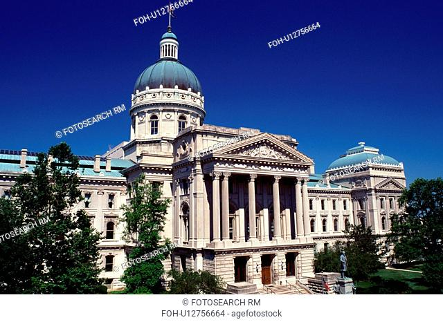 State Capitol, Capitol, Indianapolis, Statehouse, IN, Indiana, State Capitol Building in downtown Indianapolis