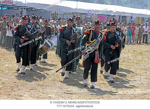 Assam Rifles Performing At Namdapha Eco Cultural Festival, Miao, Arunachal Pradesh, India
