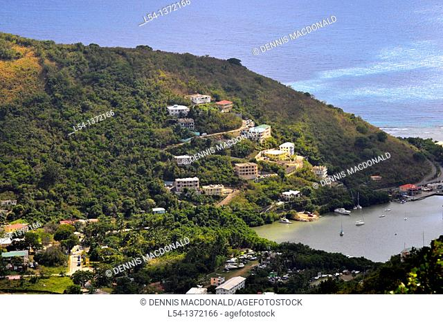View of Wickham's Cay Road Town Tortola BVI Caribbean Cruise Port