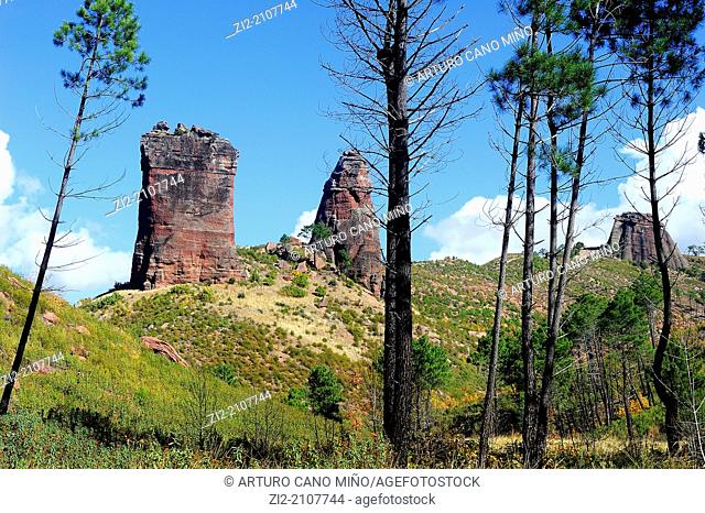 Valle de los Milagros, Riba de Saelices, Guadalajara province, Spain