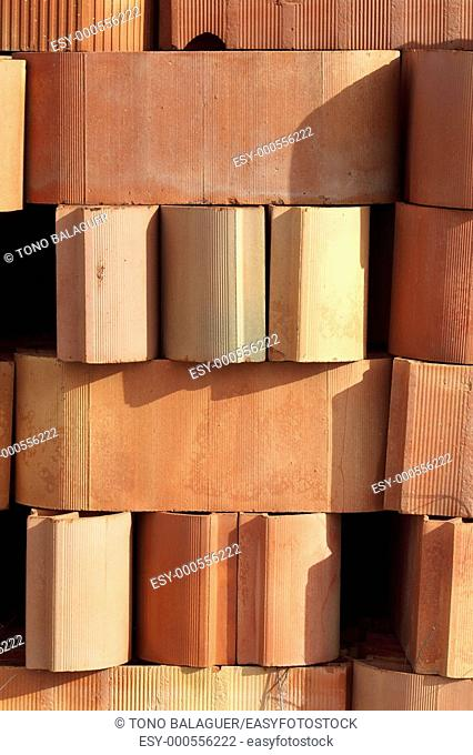 architecture clay vault tiles flooring construction stacked rows