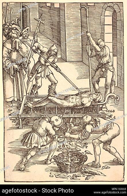 Martyrdom of St. Lawrence. Artist: Hans Baldung (called Hans Baldung Grien) (German, Schwäbisch Gmünd (?) 1484/85-1545 Strasbourg (Strassburg)); Date: ca