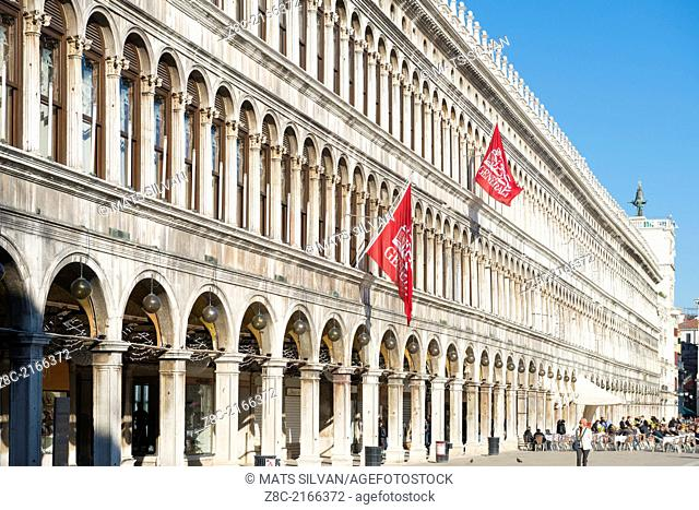 Old building in a sunny day in piazza San Marco in Venice Italy