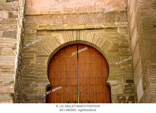 Moorish door to the Albaicin at Granada: 'Monaitas' door. Granada. Spain