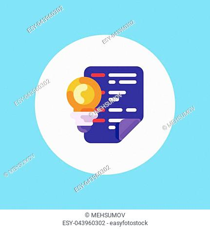 Project Briefing Thin Line Vector Icon Isolated on the White Background
