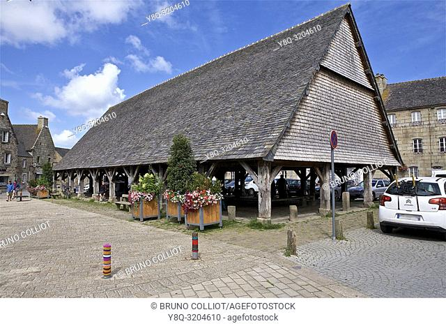 the Halles of Plouescat, Finistere, Brittany, France