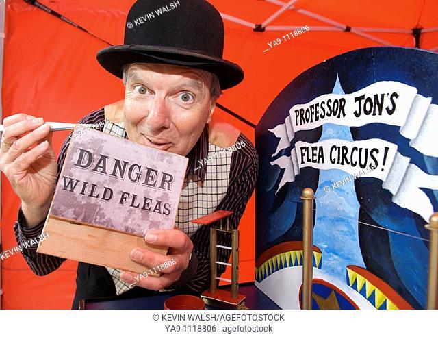 Professor Jon's flea circus show