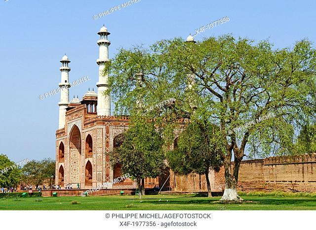 India, Uttar Pradesh state, Sikandra near Agra, Akbar mausoleum, Moghul emperor