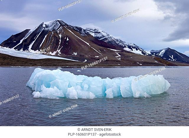 Mountains along the Hornsund fjord, west to the Greenland Sea, Svalbard, Norway